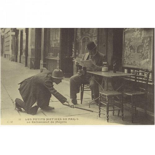 """CPA """"Le Ramasseur de Mégots""""réédition"""