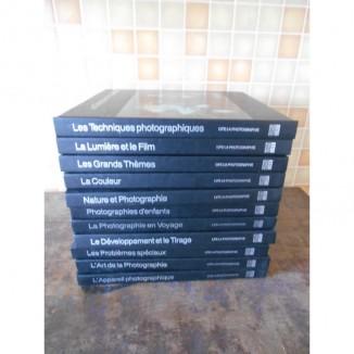 Lot de 11 volumes sur la photographie