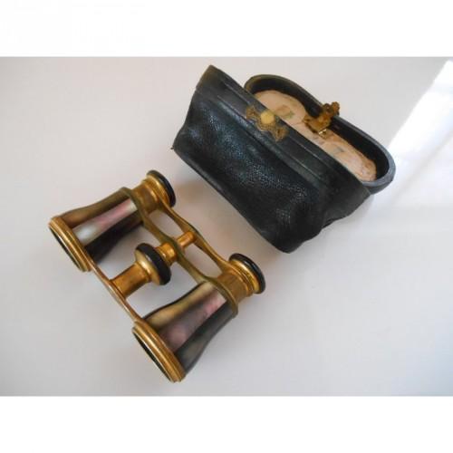 paire de Jumelles de Théatre avec Etui en cuir