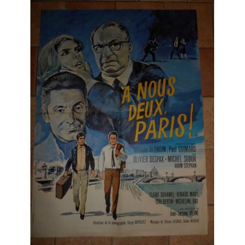 """Affiche de film """"A nous deux Paris"""""""
