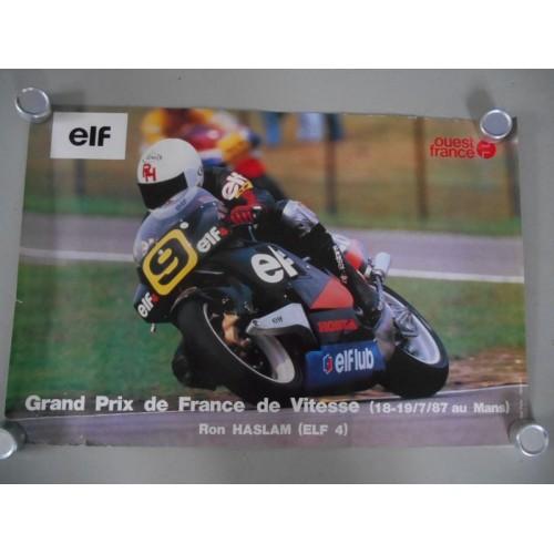 Affiche G.P de France de Vitesse 1987