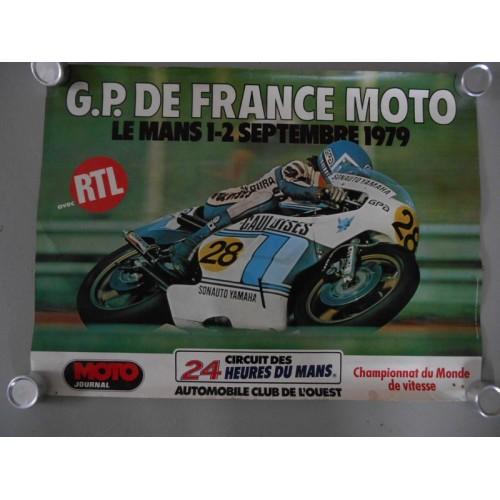 Affiche G.P de France Moto 1979