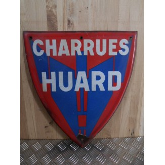 Plaque Emaillée Ancienne Charrues Huard""