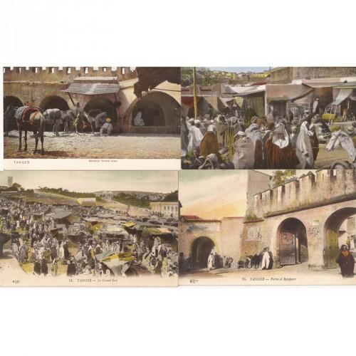 Lot de 4 cartes postales sur Tanger