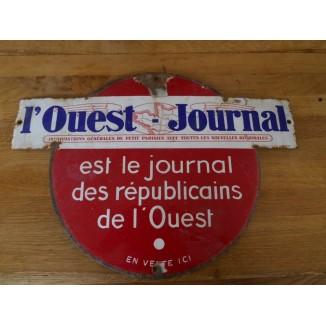 Plaque émaillée L Ouest Journal